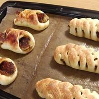 豆腐ポークハンバーグパン(*´з`)♡ ヘルシーだけど、けっこうがっつりパンです♡