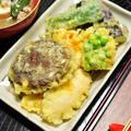 家にあるもので天ぷら盛り合わせの晩ごはんと、母さんのことを話し合う娘たち