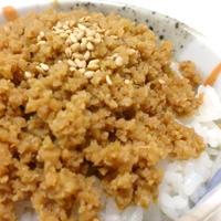 高野豆腐そぼろ丼