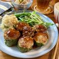輪切りで簡単♡ピーマンの肉詰め【#簡単レシピ#時短#節約#挽肉#お弁当#ハンバーグ】
