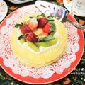 フライパンで断萌え★特製チーズクリームがとろける『チーズとフルーツのクリスマスケーキ』