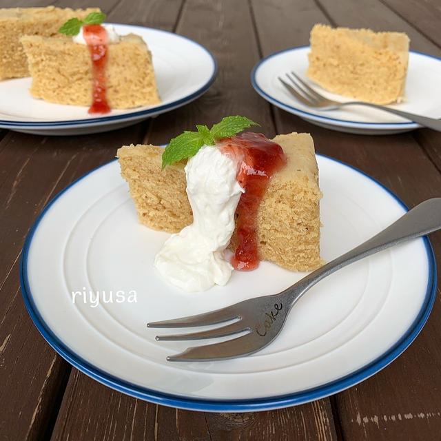 【レンジで作るおやつ】ジャム使って簡単いちごケーキ