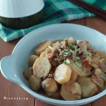 【レシピ】里芋と牛肉のこっくり煮物