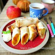 春巻の皮で♡りんごとかぼちゃのトースター焼きパイ