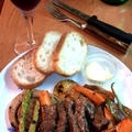 牛肉とローストした野菜のバルサミコハーブソース by mayumiたんさん