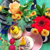 花と料理で楽しむハッピーハロウィン ☆モンブラン風スコーン