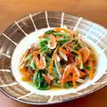 水菜と桜えびの煮びたし