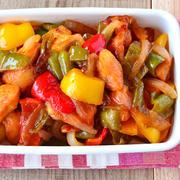 野菜たっぷりで食べ応えあり。酢鶏