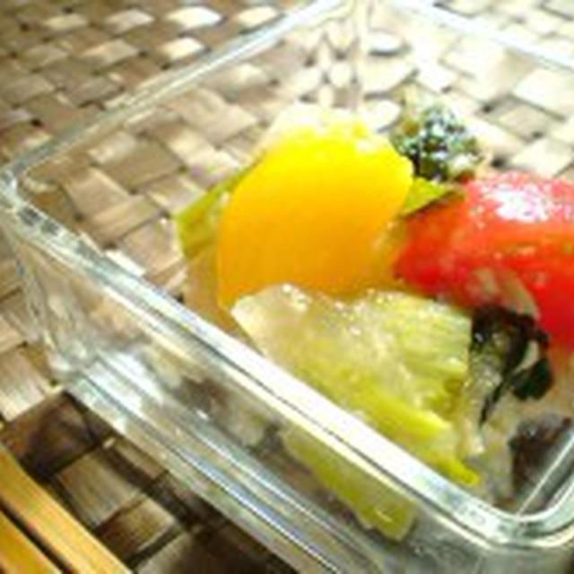 トマトとパプリカの和風ゼリー寄せ~ダイエット&美肌~【ダイエットレシピ】