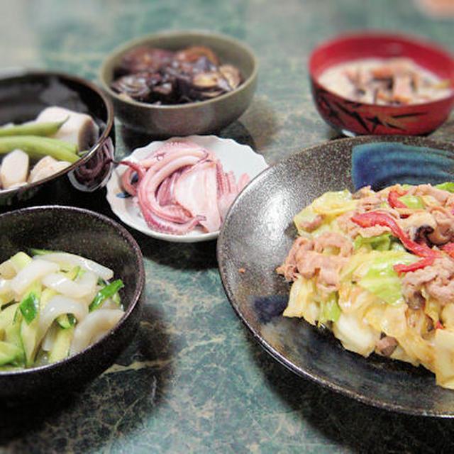 お家にあるもので作る献立 海老芋の塩煮他全5品★寒くなりそうな雨にやられました★