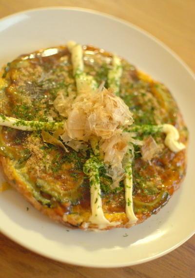 ゴーヤのお好み焼き風卵焼き Japanese omelet with bitter melon