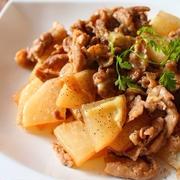 大根と豚肉の柚子胡椒ポン酢*チーズ炒め【連載記事更新しました】