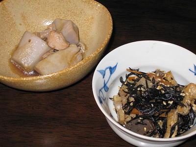 里芋とひじきの煮物