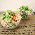 豆乳ゴマ味噌ドレッシングで頂く♪菜の花と豆のサラダ