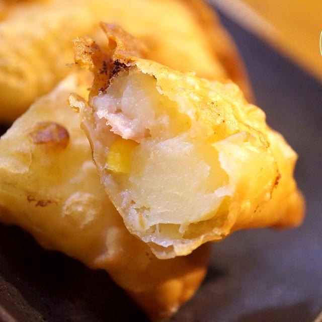 パリっと簡単ベーコンポテトチーズ揚げ餃子