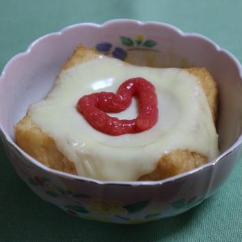 ハウス きざみ紅しょうが風ペーストで ☆厚揚げチーズ紅生姜のせ☆