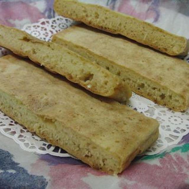 玉子焼き器で四角いパン♪ 捏ねなし発酵なし30分以内☆ シンプル豆乳ソーダブレッド