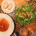 『蛸ミンチトマトスパゲッティ』の夜ごはん。