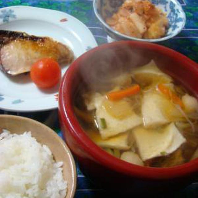 雪が降りました!八戸の郷土料理「せんべい汁」に初挑戦!!