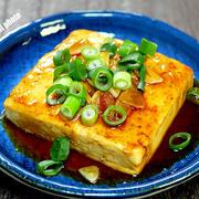 ぽったりと「豆腐のガーリックステーキ」&「次女のお土産を食べて懐かしく感じる」