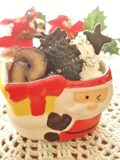 器で一気にクリスマス気分上がる↑↑簡単デコ ミルクプリン
