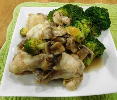 イサクア サーモンデー ~ 鶏手羽と手羽もとの塩レモン蒸し焼き