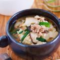 全部入れて煮るだけ3分♪胃腸にやさしい♪『豆腐とひき肉の具沢山♡おかずスープ』