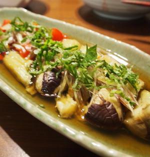 【おうちのみ大使】シソとミョウガが爽やか☆夏野菜の煮びたし。