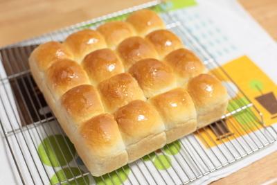 ・20cmスクエア型購入~♪ はちみつみるくちぎりパン
