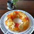 【簡単!!七夕にも】レンジで*果物いっぱい誕生日のリングゼリー