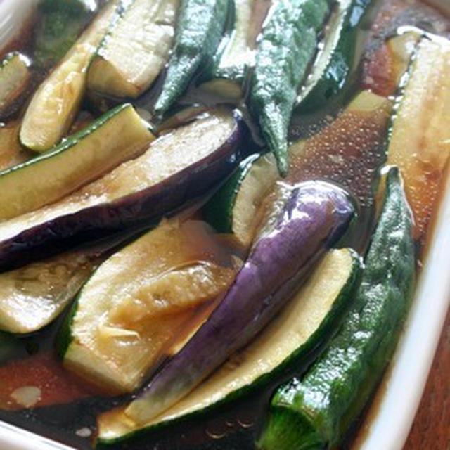 夏野菜の揚げびたし & 奄美のマンゴー♪