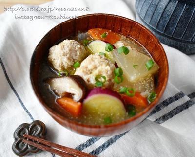 コクうま♪沁み渡るスープ♪【鶏団子のごま味噌スープ】#おかずスープ #栄養満点