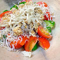 カリカリじゃことトマトのとろろ昆布サラダ