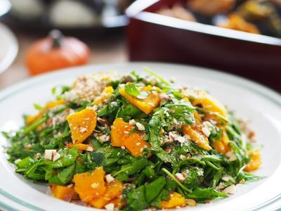 【副菜】カフェ風お洒落サラダ♡ルッコラとかぼちゃのサラダ 自家製マスタードドレッシング