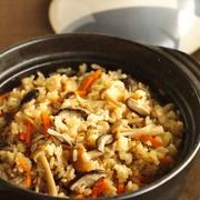 きのこと昆布の炊き込み醤油土鍋ごはん