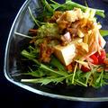 *柚子胡椒とミントのアボカドディップ の、お豆腐サラダ