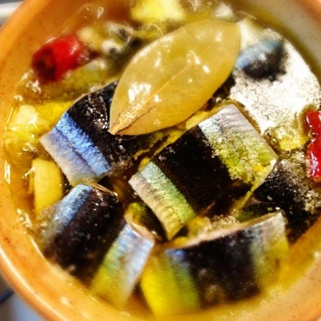 *秋刀魚のオイル煮◆アヒージョ