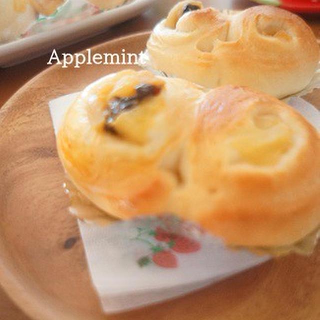 アップルシナモン×プルーンのハート型パン