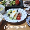 ファミリーステーキ&コブサラダ&野菜たっぷりスープ