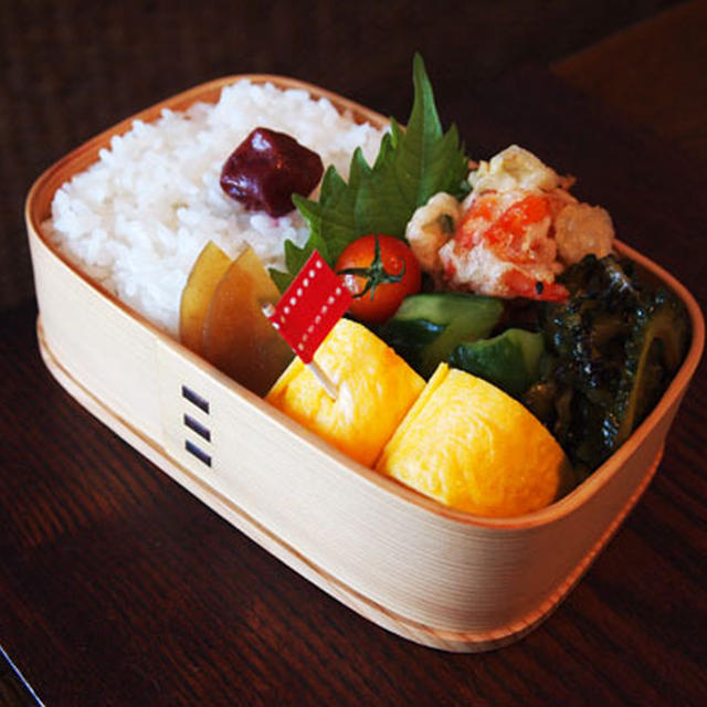 新生姜と海老のかき揚げ・・お弁当&ひとりごはん♪