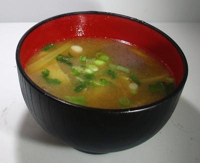 水炊きの後の味噌汁