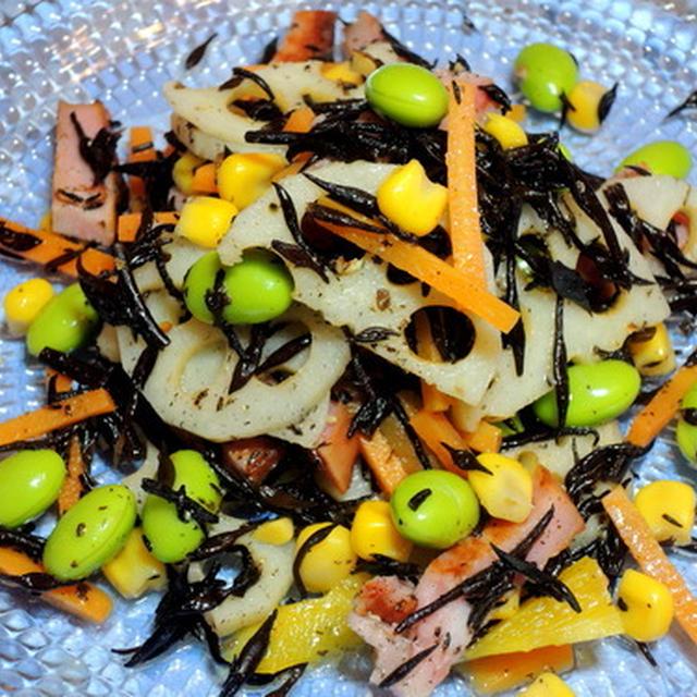 デパ地下で見かけたサラダの真似っこ☆ヒジキと枝豆など7種類のサラダ