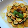 黄色と緑ズッキーニのカレー風味マリネ・・くらしのアンテナに掲載です!
