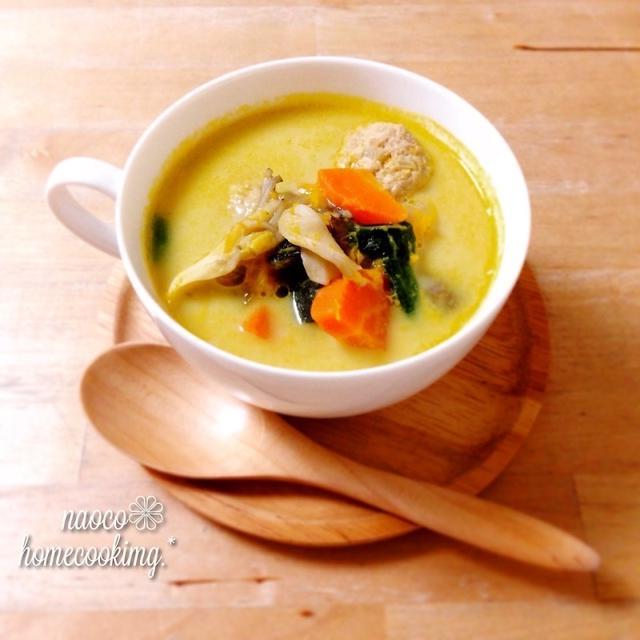 優しい~*豚団子入りかぼちゃと野菜たっぷりのスープ♪ to ・・・