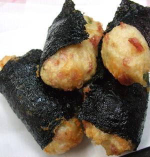 チーズ入り山芋の磯辺揚げ★