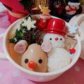 雪だるま弁当〖 デコ弁*クリスマス〗&セリアで人気のピック