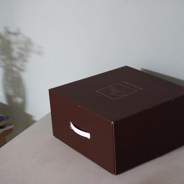 三越さんの帽子箱をコピー用紙でリメイク