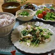 【レシピ】むね肉と豆苗の塩にんにく炒め✳︎簡単✳︎筋力アップ✳︎