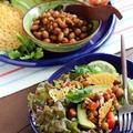 大豆のチリ炒めサニーレタス巻き