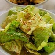 ロメインレタスのシンプルサラダ